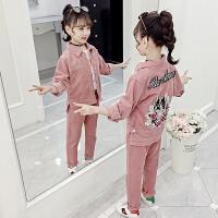 2019新款中大童童装时尚洋气女孩时髦两件套女童秋装套装