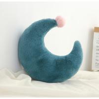 【2件5折】毛绒玩具 新年礼物 予米艺 新品ins星星月亮抱枕床头靠垫皇冠飘窗装饰沙发靠枕毛绒玩具定制 月亮绿色