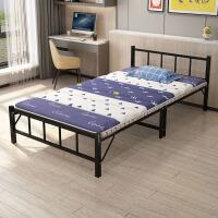 折叠床单人家用成人陪护办公室午睡简易租房双人便携木板铁午休床