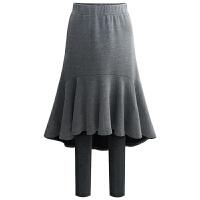 半身裙秋冬女打底裙裤冬裙女中长款针织一步裙大码高腰包臀鱼尾裙