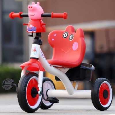 儿童三轮车脚踏车小孩自行车佩奇婴儿推车宝宝玩具2-4-3-7岁童车