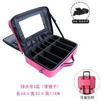 隔板化妆包收纳大容量大号手提化妆箱女化妆师纹绣工具箱