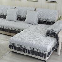 四季通用沙发垫防滑实木布艺坐垫子简约欧式沙发巾罩套棉麻垫定制