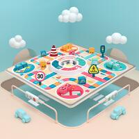 特宝儿 汽车双面飞行棋多功能游戏棋类棋盘儿童桌游亲子互动玩具益智跳跳棋120435