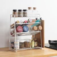 家用置物架厨房落地式调味品置物架桌面换装用品创意斜面收纳架子
