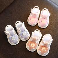 婴儿凉鞋新生春秋夏季软底学步鞋男女宝宝不掉鞋