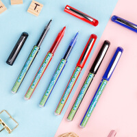 日本PILOT百乐笔BX-GR5-BG中性笔按动0.5mm学生用文具用品考试威宝走珠笔商务办公书写签字笔直液红黑色水笔