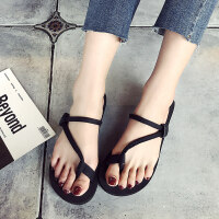 凉鞋女士人字拖夏季平底凉拖沙滩鞋外穿厚底拖鞋韩版潮