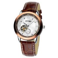 2018年新款 EYKI艾奇 商务时尚皮带表 镂空潮流表 机械表 男士手表 棕色 8622