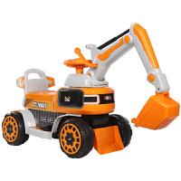 儿童挖掘机玩具车挖土机可坐可骑大号全电动男孩学步挖机遥控钩机 官方标配
