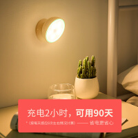光控自动感应LED小夜灯寝室床灯宿舍床上用小灯不插电磁吸墙壁灯