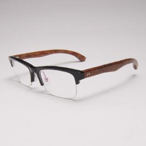 威古氏 近视镜框眼镜架木框复古时尚小框镜框 5022