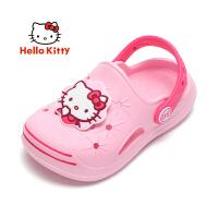 【秒杀价:29.9】HelloKitty凯蒂猫童鞋2020年夏季新款女童拖鞋洞洞鞋儿童拖鞋女童亲子居家鞋包跟防滑透气