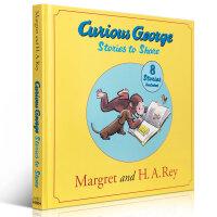 Curious George Stories to Share 好奇猴乔治的新冒险 8本书合集 精装大开本 英文原版童书 乔治是只可爱的对任何事物都充满了好奇的小猴子 吴敏兰绘本123