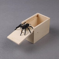 愚人节抖音同款吓人蜘蛛惊吓一跳木盒创意整蛊恶搞礼物恶作剧玩具