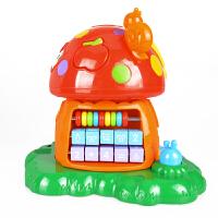 儿童早教益智宝宝玩具音乐灯光电子琴珠算形状配对 神奇蘑菇屋