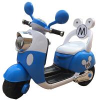 电动脚踏车儿童摩托车小孩三轮车小木兰宝宝可坐玩具车童车电瓶车1-3QL-76