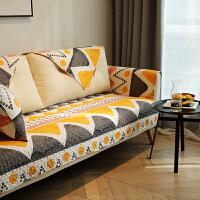达拉 防滑沙发盖巾全棉布艺沙发垫 套罩坐垫 四季通用 可定制 达拉F