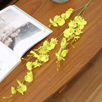 仿真花干花黄色跳舞兰迎春假花摆设客厅高品质娟花餐桌的装饰摆件