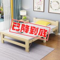 折叠床单人床1.2米硬板家用儿童小床出租房简易床实木双人午休床