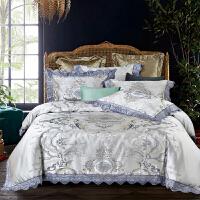 伊迪梦家纺宫廷风四件套全棉纯棉高档奢华高端美式床品欧式床上用品床盖被套枕套双人床PC03