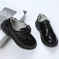 儿童休闲皮鞋单鞋花童皮鞋春秋款男童黑色皮鞋中大童演出表演皮鞋