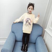 2019新款韩版中长款上衣金丝绒宽松儿童装女童秋冬装卫衣