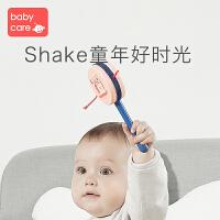 babycare婴儿拨浪鼓可啃咬传统木质0-1岁宝宝波浪鼓 手摇鼓玩具