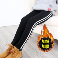 女童打底裤秋冬加绒加厚新款韩版儿童外穿裤女孩修身保暖裤子
