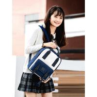 双肩包女大学生书包时尚潮流大容量简约百搭多功能高中生初中生男