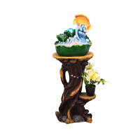 【新品】微景观流水喷泉风水球办公室客厅创意装饰家用礼品加湿器摆件 加底座