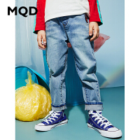 MQD童装男童直筒牛仔裤2020春装新款儿童浅牛仔蓝长裤中大童裤子