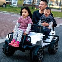 双座儿童电动车四轮四驱越野童车可坐人玩具1-3汽车4-5岁遥控小孩zf10
