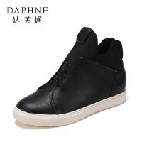 Daphne/达芙妮旗下时尚圆头简约低筒短靴女靴