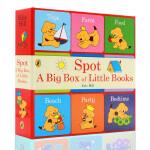 英文原版 Spot A Big Box of Little Books 小玻在哪里小小手掌书9本小书封底可玩拼图0-2