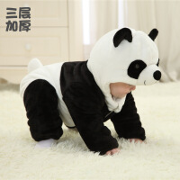 动物爬爬服婴儿连体衣秋冬保暖潮服冬季加厚外出服宝宝衣服bb哈衣