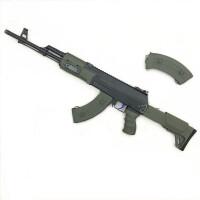 水晶小月亮AK12下供弹电动连发真人CS对战水晶弹儿童玩具枪男孩子六一儿童节礼物 豪华版 11.1V锂电池+弹夹 标准