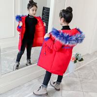 女童棉衣2018新款冬装儿童中长款女孩棉袄中大童加厚外套