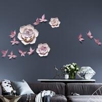 创意家居 温馨墙面装饰品软装挂饰 浮雕艺术品 过道装饰 蝶戏花 紫
