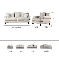 【旗舰精品】 美式乡村布艺沙发组合 北欧沙发 单双三人位休闲可拆羽绒沙发