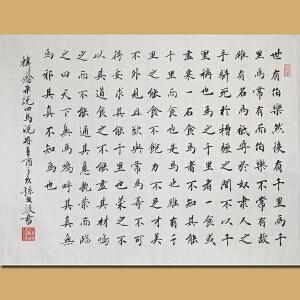 中国实力派青年书法家孙文波先生作品――韩愈《马说》