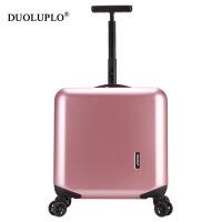 【年货节大促】多伦保罗 铝框旅行箱18寸拉杆箱小型登机箱万向轮16行李箱包男女