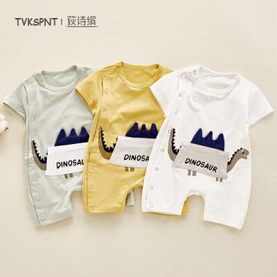 婴幼儿宝宝外出服哈衣薄款0-1岁婴儿连体衣夏装男女宝宝衣服