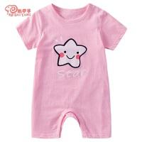 婴儿夏季宝宝衣服薄款连体衣短袖哈衣婴儿连体衣棉婴幼儿夏装睡衣