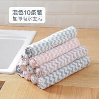 吸水抹布家务清洁厨房用品不易掉毛沾油家用洗碗巾擦桌子洗碗布