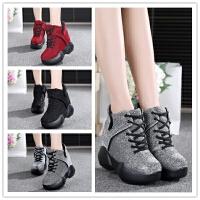 秋冬季短靴韩版女鞋休闲鞋秋鞋单鞋运动鞋超高跟百搭内增高鞋