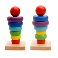 叠叠圈 婴幼儿启蒙组合彩虹塔叠叠圈套柱叠叠乐积木玩具0-3岁 叠叠高 小号套塔