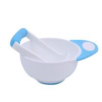 W婴儿辅食工具 果泥研磨碗套装宝宝辅食工具婴幼儿便携辅食碗勺碾碎器手动肉菜泥O