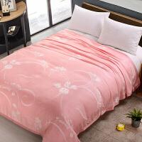 超凉爽!恩丝贝雪竹纤维毛巾被双人毯子夏季 单人薄空调毯盖毯夏天定制