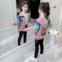 2019春秋季新款洋气女孩连帽棒球服女童童装外套儿童夹克